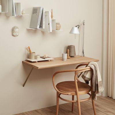 CANVAS - Schreibtisch zur Wandmontage in Eiche massiv, geölt