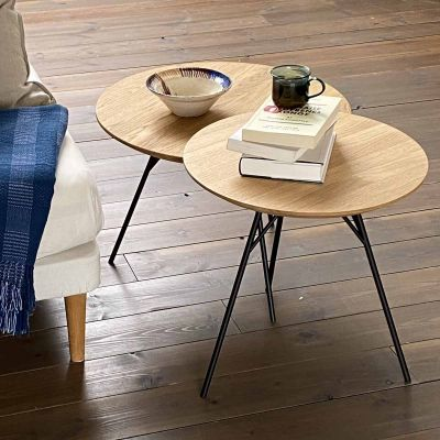 SPACE TABLE - Couchtisch aus massiver Eiche, geölt, D:58 cm